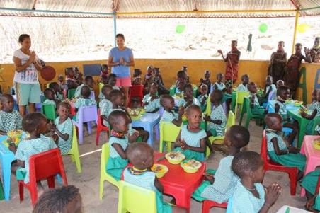 Comedor infantil en Turkana 2