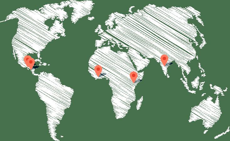 Mapa de los proyectos de Actúa