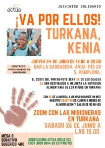 cartel acto solidario TURKANA